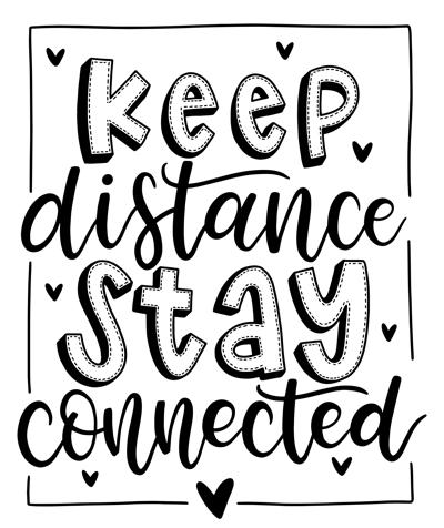 raamtekening Keep Distance